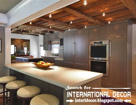 ceiling beams with recessed lights largest album of modern kitchen ceiling designs ideas tiles