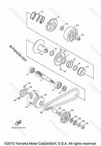 Yamaha Scooter 2011 Oem Parts Diagram For Clutch