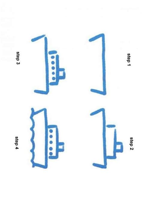 How To Draw A Boat Kindergarten by How To Draw A Steam Boat How To Draw Pinterest