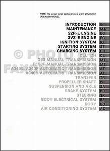 1995 Toyota 4runner Repair Shop Manual Factory Reprint 2