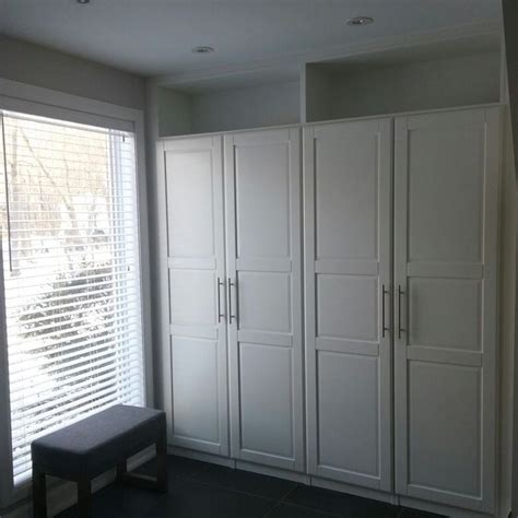 Ikea Wardrobes by Ikea Pax Wardrobes Cleverly Built In With Top Shelves