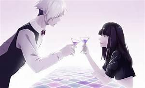 Death Parade anime series couple drink long hair girl guy ...