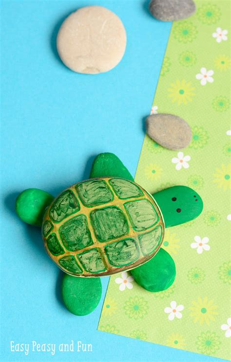 Rock Turtle Craft Easy Peasy And Fun