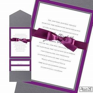 bold double border wedding invitation with pocket With pocket wedding invitations michaels