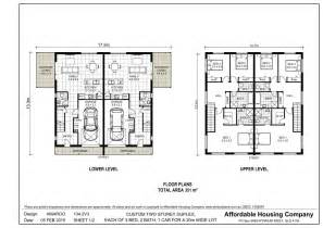 3 Bedroom Townhouse Plans Australia by 134 2v3 Amaroo Duplex Floor Plan By Ahc Brisbane Home