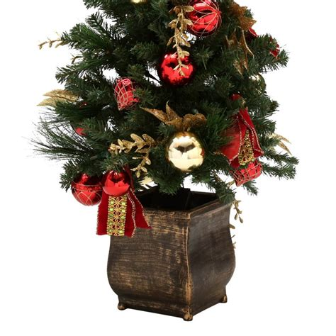 prelit battery operated potted christmas tree home accents 4 ft battery operated plaza potted artificial tree with 50 clear