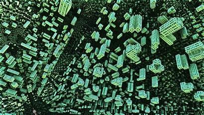 Fractal 3d Shape Structure Blockchain Background Pattern
