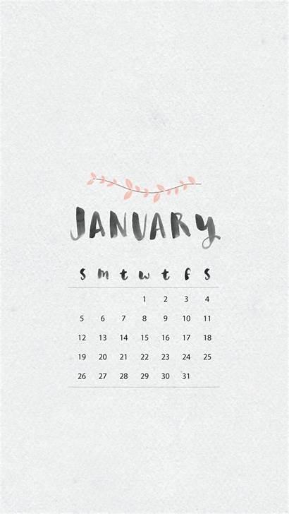 Calendar January Wallpapers Phone Desktop Iphone Screen