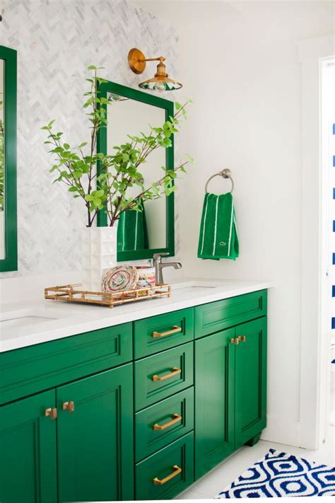 Colorful Bathroom Vanity by 25 Best Ideas About Green Bathroom Colors On