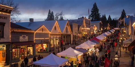 california towns  holiday spirit