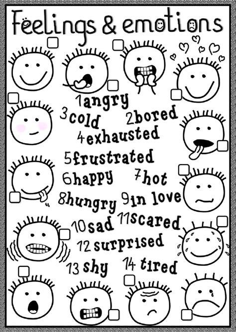 feelings  emotions interactive worksheet