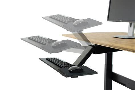 adjustable keyboard tray for desk amazon com kt2 ergonomic under desk adjustable height