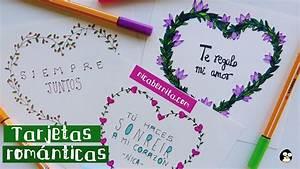 #TARJETAS HECHAS A MANO CON #FRASES DE #AMOR 2 IDEAS PARA REGALAR a tu novio Nica Bernita