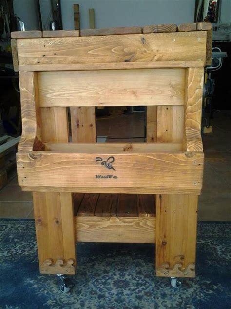 diy pallet kitchen island table  pallets