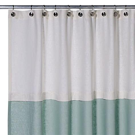 75 Shower Curtain by Buy Soho 72 Inch X 75 Inch Linen Shower Curtain In Aqua