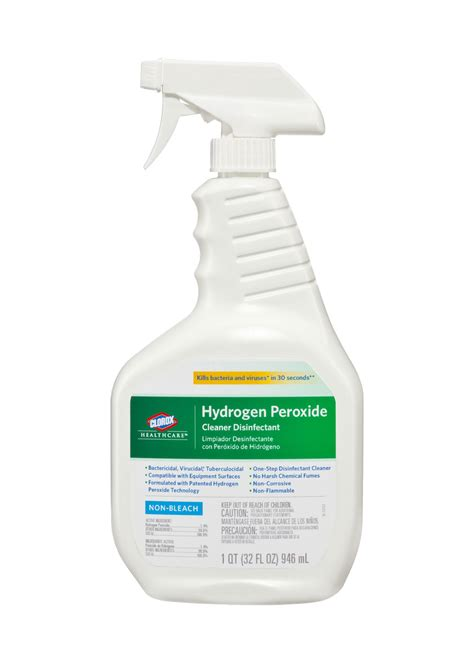 Lead Apron Cleaners, including Clorox Hydrogen Peroxide