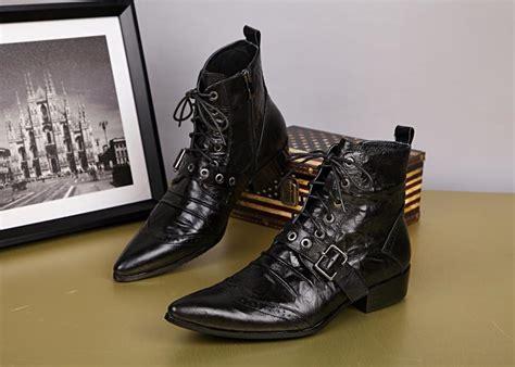 Autumn Winter Fashion Gentlemen Men Short Boots Genuine