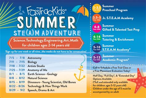 summer school programs for summer ste a m adventure fastrackids ny