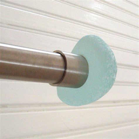 sea glass recycled curtain rod finial beachyrustica
