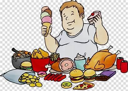 Eating Cartoon Junk Clipart Transparent Meal Human