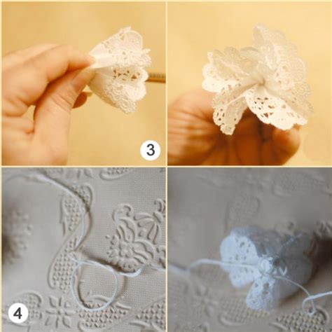 Crafts Wedding Decorations by Paper Doily Flowers4 Factory Direct Craft