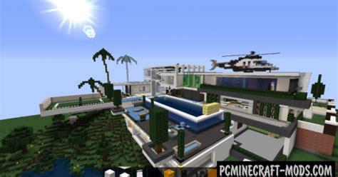 huge modern house map  minecraft   pc