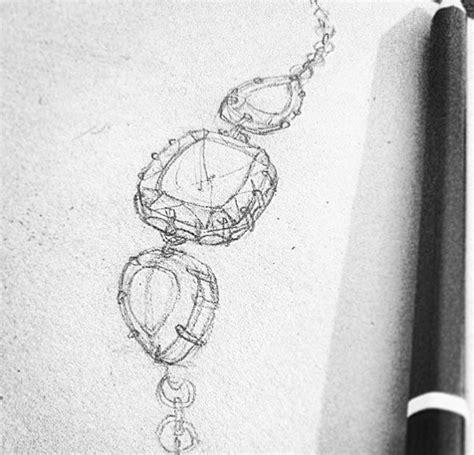 pin  prune   jewellery sketches  rendering