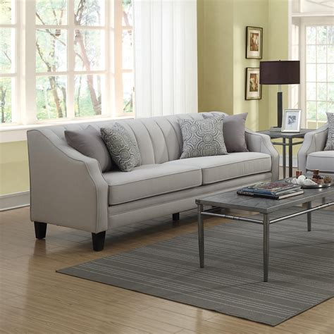 The Loveseat by Loxley Sofa With Channeled Back And Track Arms Quality