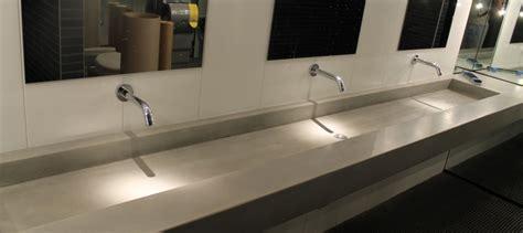 polished concrete vanities bowls  shower panels