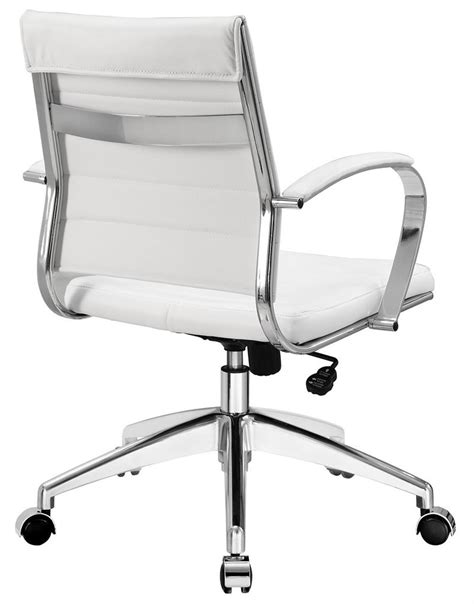 Ribbed Back Aria Leather Office Chair Modernselectionscom