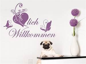Herzlich Willkommen Bilder Zum Ausdrucken : wandtattoo herzlich willkommen nr 2 flur diele begriffe wandtattoo shop f r ~ Eleganceandgraceweddings.com Haus und Dekorationen