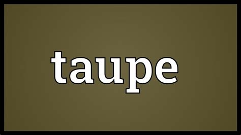 Taupe Farbe Definition by Taupe Meaning