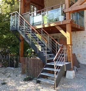 Escalier Exterieur Metal : escalier ext rieur sur mesure loft avec limons en ~ Voncanada.com Idées de Décoration