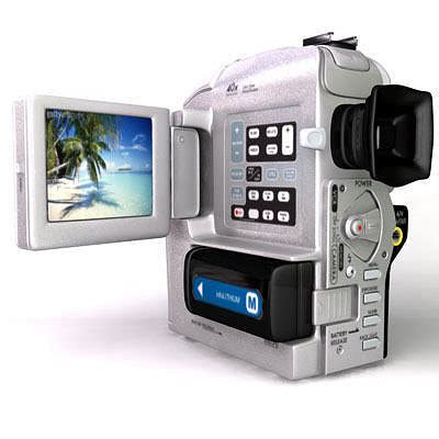 sony camcorder  cgtrader