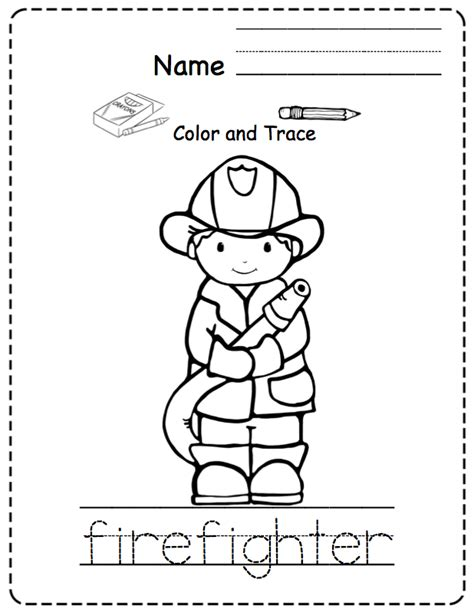 preschool printables community helpers preschool
