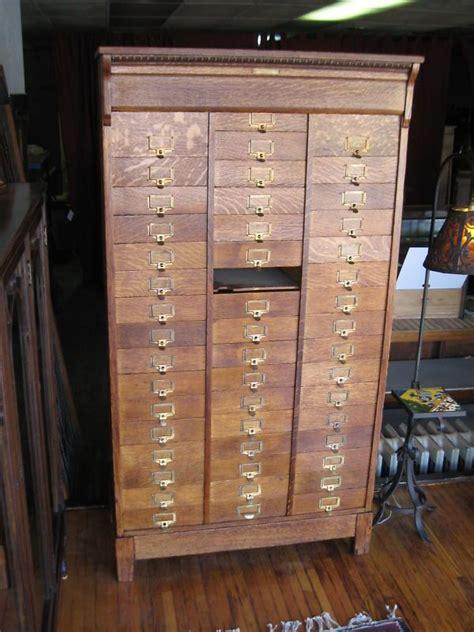 antique oak flat file paper  drawer rare ohmers