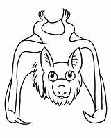Bat Coloring Pages Clipart Coloring2print sketch template