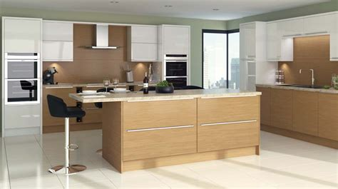 contemporary oak kitchen woodgrain lissa oak slab our kitchens sheraton kitchens 2538