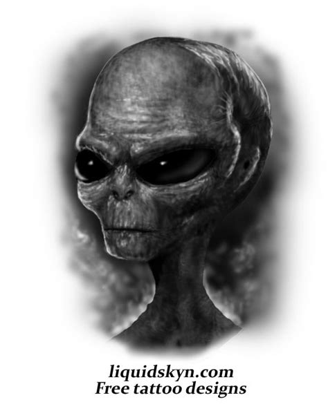 alien tattoo images designs