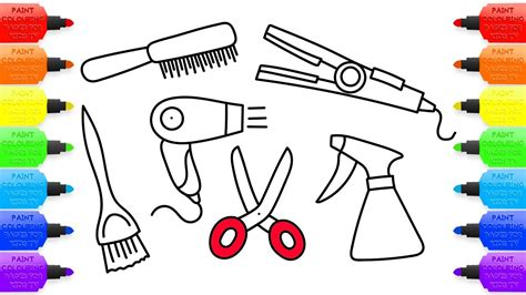 barber clipart colouring page barber colouring page