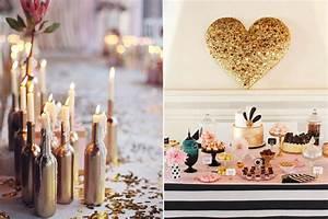 Wedding Decor - 10 Gorgeous Gold DIY Ideas weddingsonline