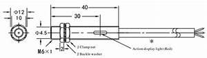 Proximity Sensor  Inductive  M6  2 Wire  24v