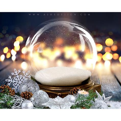 ashe design digital backdrop set  twinkling snow