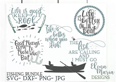 fishing svg bundle sofontsy