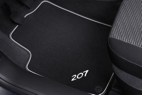 Peugeot 207 Carpet Mats Metallic Trim [hatch & Sw Models