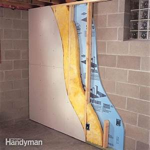 How to finish a basement wall the family handyman for Basement wall finishing