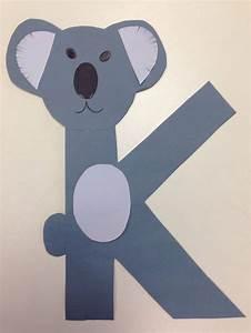 Letter K For Koala Alphabet Coloring Pages Kids Printable