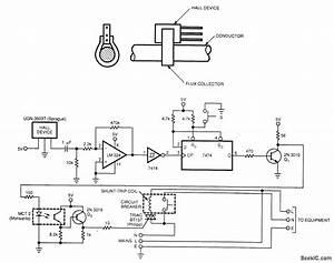 Ground Fault Hall Sensor - Sensor Circuit - Circuit Diagram