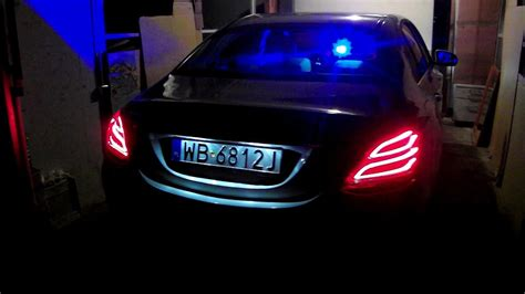 Beautiful ambient light in my mercedes c200 w205. 2015 Mercedes C-Class W205 Police Car Lights Signal Night - YouTube