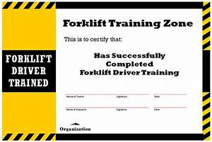 new blog 1 forklift certification With forklift licence template